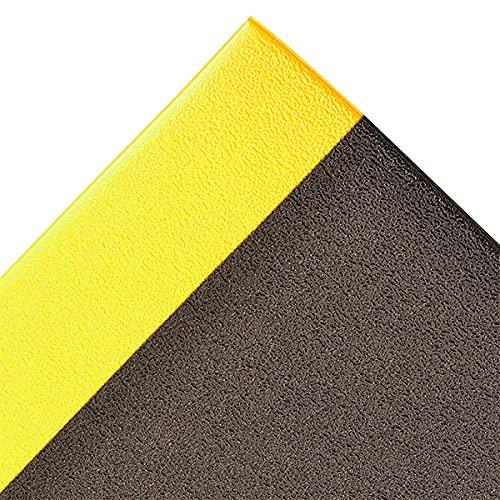 Alfombra disipant estática, 91 cm x 150 cm, color negro y amarillo