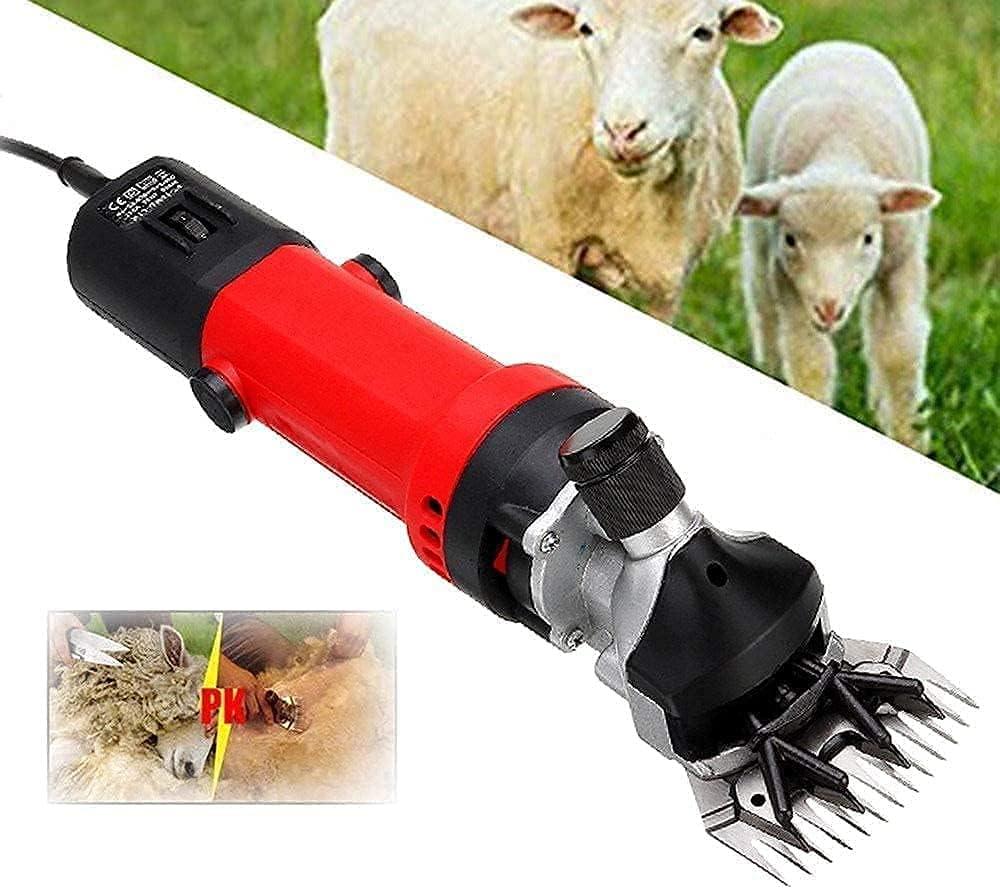 Esquilador de ovejas, 350 W, portátil, 6 velocidades, Tijeras para ovejas, cortapelos eléctricos, Cabras, Alpaca, Camellos, Ganado y Caballos, Piel Gruesa y Animales Pesados