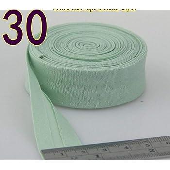 Cinta al bies de algodón de 20 mm de ancho con planchado para confección, manualidades, 30 unidades: Amazon.es: Hogar