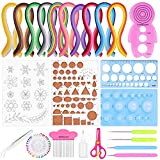 Paper Quilling Kit, Flasoo 1060Pcs Quilling Paper Strips with 15Pcs Quilling Tools and Supplies for Paper Quilling and Paper Art Craft