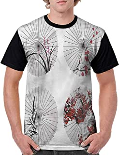 Performance T-Shirt,Kid with an Umbrella Fashion Personality Customization