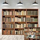 BINQOO Fondo para la oficina en casa o oficina, con zoom, pantalla de fondo vintage, libros mágicos, biblioteca antigua, fondo de vinilo para fotografía de fondo (210 cm de ancho x 150 cm)