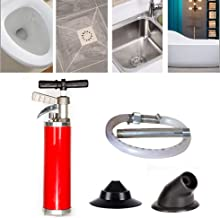 Pipe Cleaners Kinetic Water Ram Drain Cleaning Tools Sewer Dredging Device Pipe Clean Suction Tool with 4