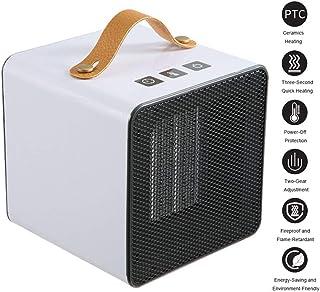 TFACR Calentador de Espacio de cerámica, Calefactor rápido a Prueba de Fuego 400W/800W Calentador, Mini Calentador eléctrico con protección contra sobrecalentamiento para Oficina en casa