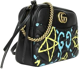 2f3cb2c482c Gucci Women s Ghost Black Leather Apollo Marmont Chain Shoulder Bag 443499  8438