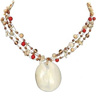 DCA Multicolor Shell/Glass Women Necklace