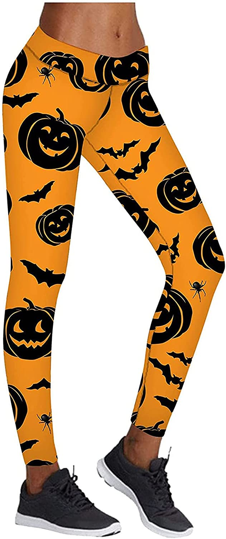 Women Halloween Ghost Pumpkin Lounge Jogger Pants Skinny Fit Sweatpants Soft Lounge Yoga Pants Comfy Pajama Pants