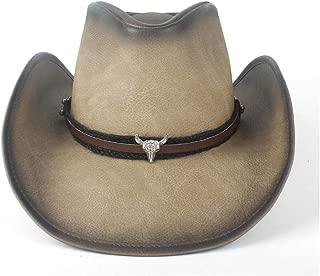 Lei Zhang Retro Unisex Women Men Leather Western Cowboy Hat For Gentleman Dad Fedora Sombrero Cap Dad Hat