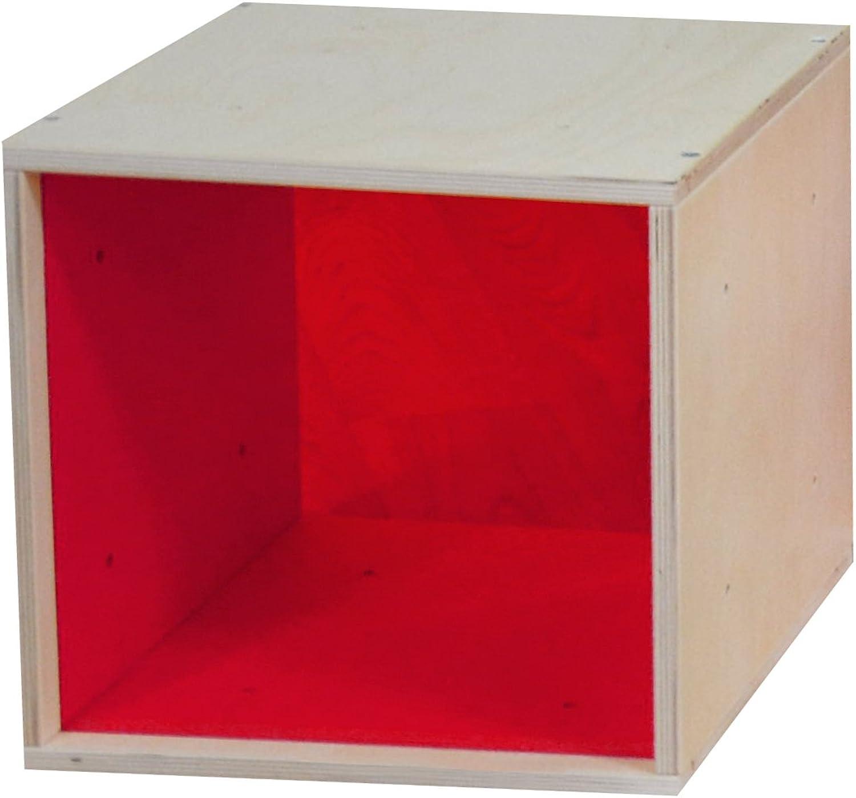 ICube das Regal mit roter Plexiglasscheibe in PREMIUM QUALITT