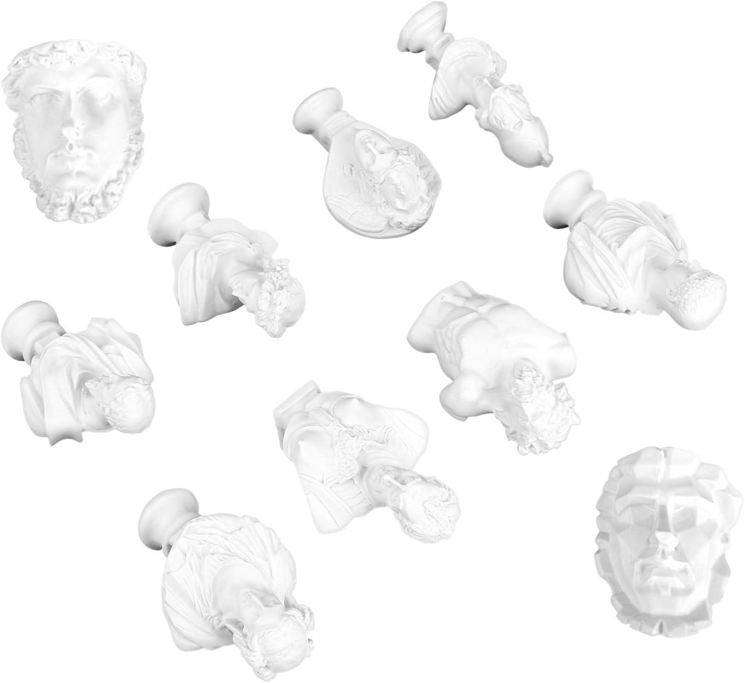 ABOOFAN Greek Bust Statue Mini Bust Statue Resin Head Sculpture