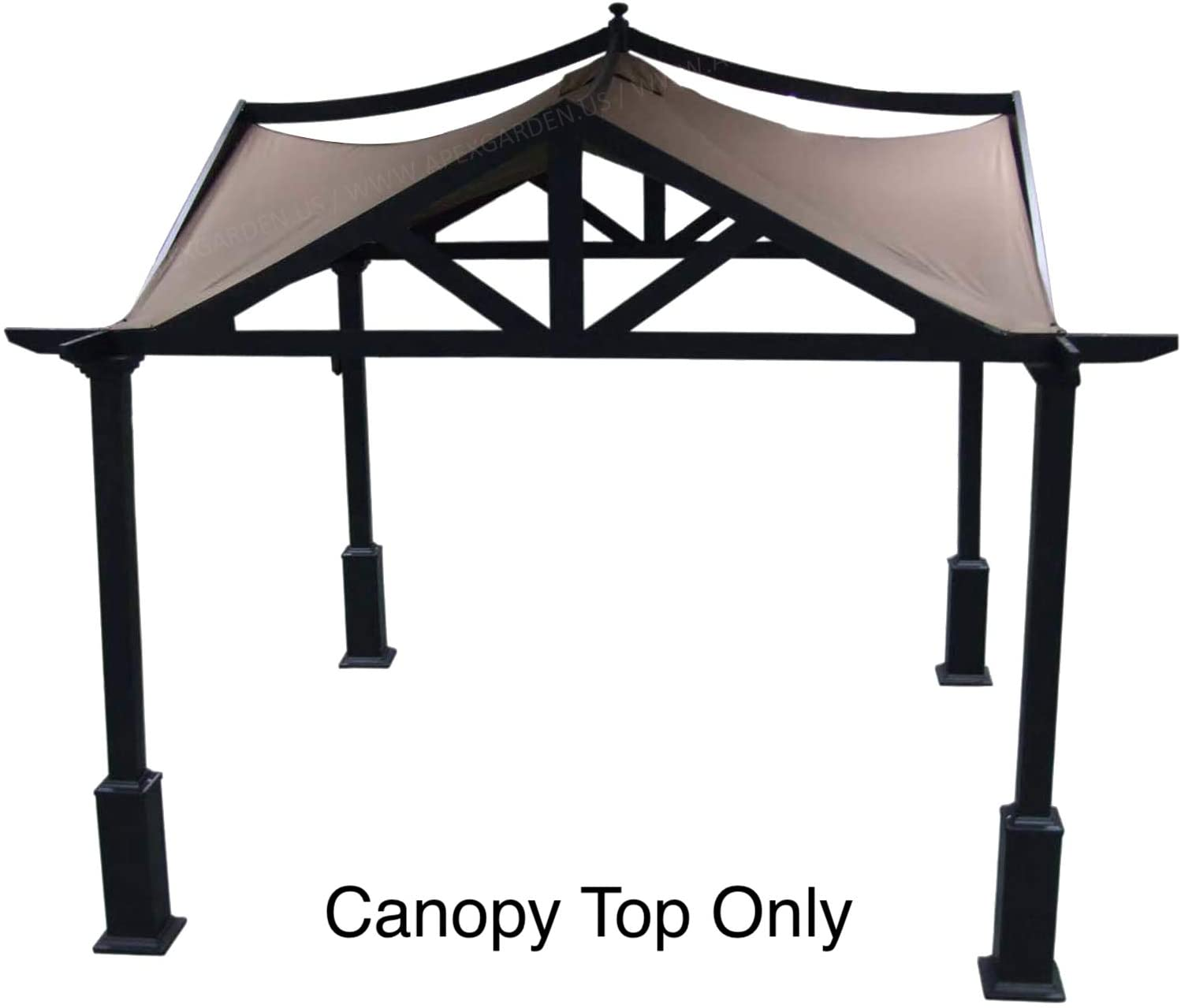 Amazon Com Apex Garden Replacement Canopy Top For Lowe S 10 Ft X Gazebo Gf 12s039b 9a037x Burgundy Outdoor