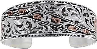 Montana Silversmiths Women's Winding Leaves In Fall Bracelet