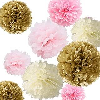 Fonder Mols Tissue Paper Flowers Pom Pom Decorations - Pack of 12 pcs 14