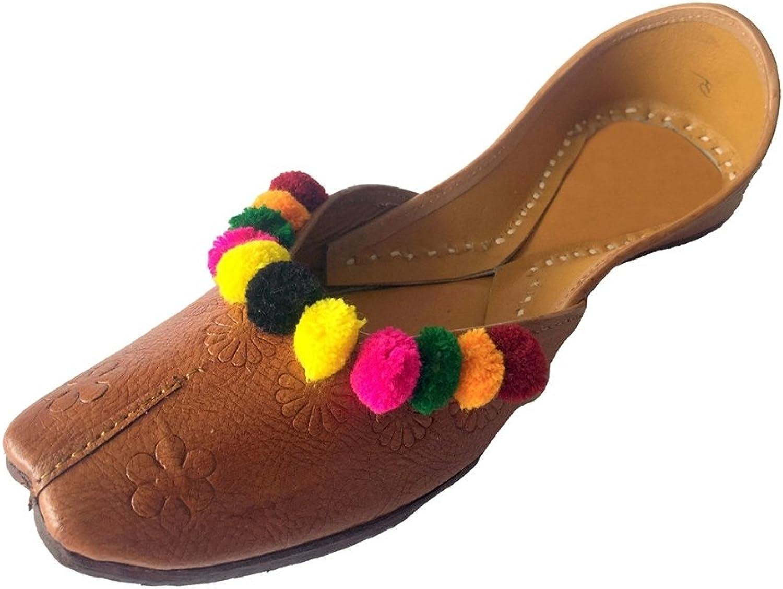 Step n Style Women's Pure Leather Khussa shoes Punjabi Jutti Ethnic Mojari Rajasthani Ballet shoes Casual Sandal