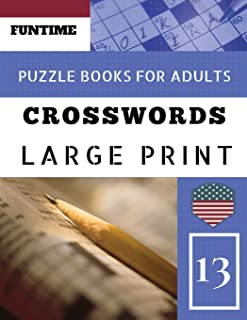 Crossword puzzle books for adults large print: Funtime Activity Book for Adults Crosswords Easy Magic Quiz Books Game for ...