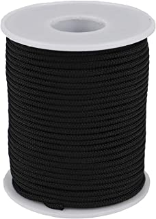 McFanBe Braided Nylon Twine Cord Thread String for Necklace Bracelet Jewelry Making Crafting Accessories (2mm-98feet, Black)