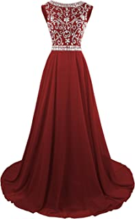 MsJune Long Prom Dresses Cap Sleeves Bridesmaid Wedding Guest Gowns Beaded  2017 328ae59dc30a