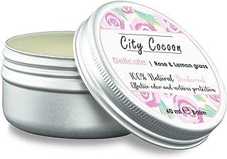 Bálsamo desodorante Delicado natural   Rosa + hierba de limón  Hombre & mujer  100% libre de crueldad animal   Libre de aluminio, parabenos & plásticos   Hecho en UE   60ml