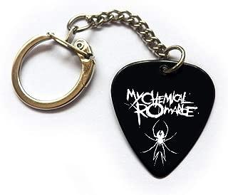 My Chemical Romance Guitar pick plectrum logo keyring (BW)