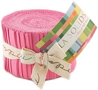 Bella Solids 30s Pink Jr Jelly Roll (9900JJR 27) by Moda House Designer for Moda