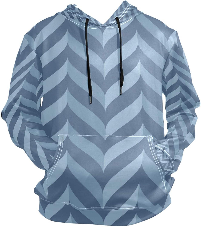 a6c5dc9e408a FANTAZIO Hooded Sweatshirt blueee Collection Texture Texture Texture Men's  Causal Outwear Tops acfdd5