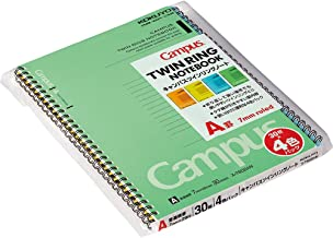 30-T602A mice Kokuyo Twin Ring Notebook 4 Books Pack No. 6 semi-B5 A Ruled line (Japan Import)