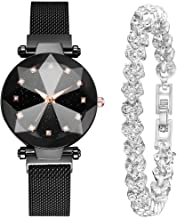 WUAI Women's Watch Gift Set,Fashion Luxury Brand Romantic Quartz Watch Crystal Bracelet with Gift Box