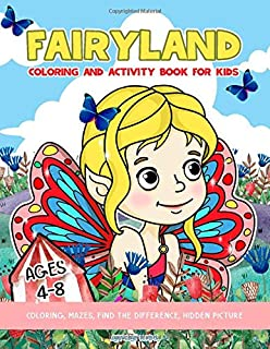 Fairy Land: Coloring And Activity Book For Kids