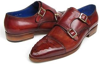 Paul Parkman Men's Double Monkstrap Burgundy Leather