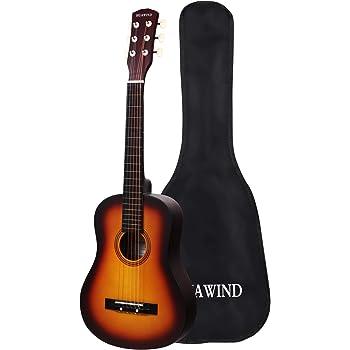 HUAWIND Acoustic Classical Guitar 1/2 Half Size Beginner Guitar,Kid Guitar 6 Steel String Wooden Guitar Kit with Gig Bag(Sunset)