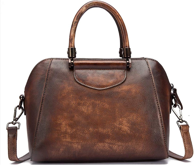 AUSWIEI Umhängetasche für Frauen aus echtem Leder Umhängetasche Vintage Schulranzen Handtasche Geldbörsen (Farbe   Vintage Coffee) B07K1P81C6