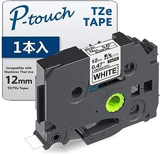 1個 12mm 白地黒文字 互換 ブラザー工業 ピータッチ TZeテープ ラミネートテープ Brother P-Touch TZe-231 (TZe231) 8M ASprinte