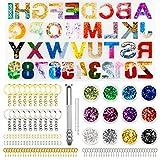 Stampi per Resina Lettere, 236pcs Stampi Silicone per Resina Epossidica Lettere, Fai-da-Te Numero di...