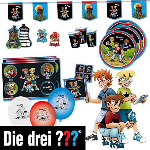 DH-Konzept Partybox DREI ??? Kids // 70teiliges Partyset DREI Fragezeichen