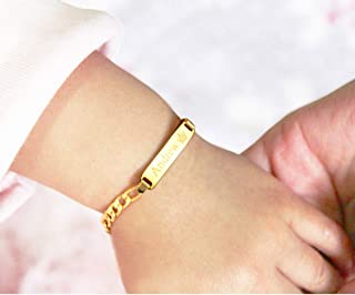 Tina&Co Personalized 14K Gold Plated Baby Name Bracelet...