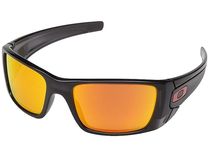 Oakley Fuel Cell (Black Ink w/ Prizm Ruby Polarized) Polarized Sport Sunglasses