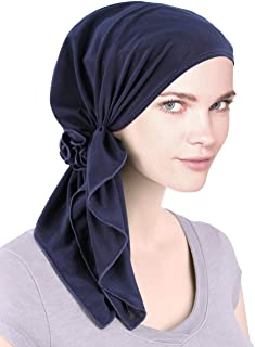 Bella Scarf Chemo Hat Turban Head Scarves Pre-Tied Headwear Bandana Tichel for Cancer