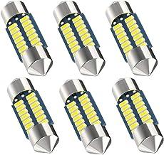 Serundo Auto DE3175 Led Bulb, 31mm 1.22in Festoon Led Bulb DE3021 DE3022 DE3023 6428 6430 Led Bulb,14SMD 3014 Chips Super Bright Interior Led Bulb Used for Car Map Light Dome Light etc ,Pack of 6pcs