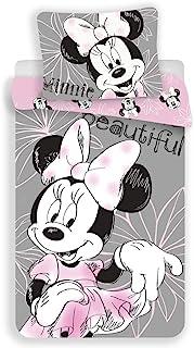 Unbekannt Disney Minnie Mouse Beautiful - Juego de cama reversible (140 x 200 cm, funda de almohada de 70 x 90 cm, 100% al...