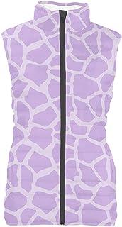 Rainbow Rules Bright Giraffe Print Mens Puffer Vest Bodywarmer Gilet