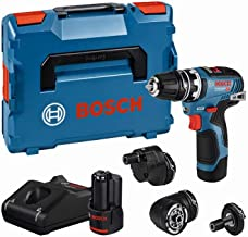 Bosch Professional 12V accuschroefboormachine GSR 12V-35 FC (incl. 2x 3,0 Ah accu, snellader GAL 12V-40, 4 FlexiClick-opze...
