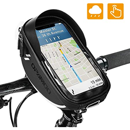 Bicycle Bike Head Tube Handlebar Phone Bag Case Holder Screen Phone Mount Bags