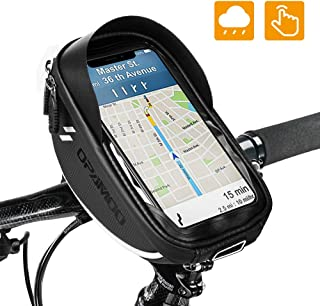 Bike Bicycle Phone Mount Bags - Waterproof Front Frame Top Tube Handlebar Bags with Touch Screen Phone Holder Case Sports ...