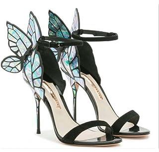 610731a3f53b5a YANGXIAOYU Ailes De Papillon Colorées avec Sandales À Talons Hauts pour  Femmes, Sandales pour Femmes