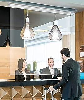 ロールスクリーン 60cm / 80cm / 100cm / 120cm / 140cm幅の広い透明なプラスチック製のローラーブラインド、ホテルの受付の仕切りカーテン用の外部防水PVCクリアブラインド (Size : 60x180cm)
