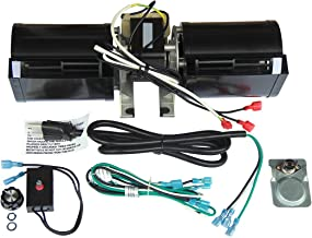 Hongso GFK-160 Replacement Stove Fireplace Blower Fan KIT with Ball Bearings Motor for Heat N Glow GFK-160A; Regency Wood Stove Insert 846515, Royal, Jakel; Rotom # R7-RB168
