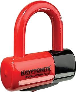 Kryptonite Evolution Series 4 Bicycle Disc Bike Lock (Red)