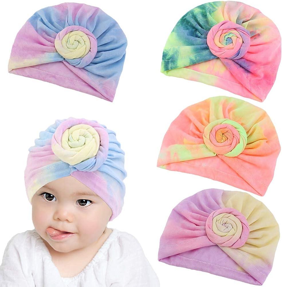 Baby Turbans Hats Girls Head Wraps Big Bow Cap Toddler Hats for Boys Newborn Hats