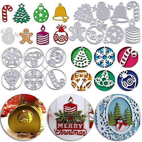 BESLIME Weihnachten Grußkarte Stanzschablone Stanzbögen Stanzmaschine Stanzformen für Scrapbooking Kartenbasteln, Journaling Silber