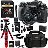Fujifilm X-T2 Mirrorless Digital Camera 18-55mm F2.8-4.0 R LM OIS Lens, Polaroid 64GB, Filter Kit, Bag, Tripod, Spare Battery and Accessory Bundle